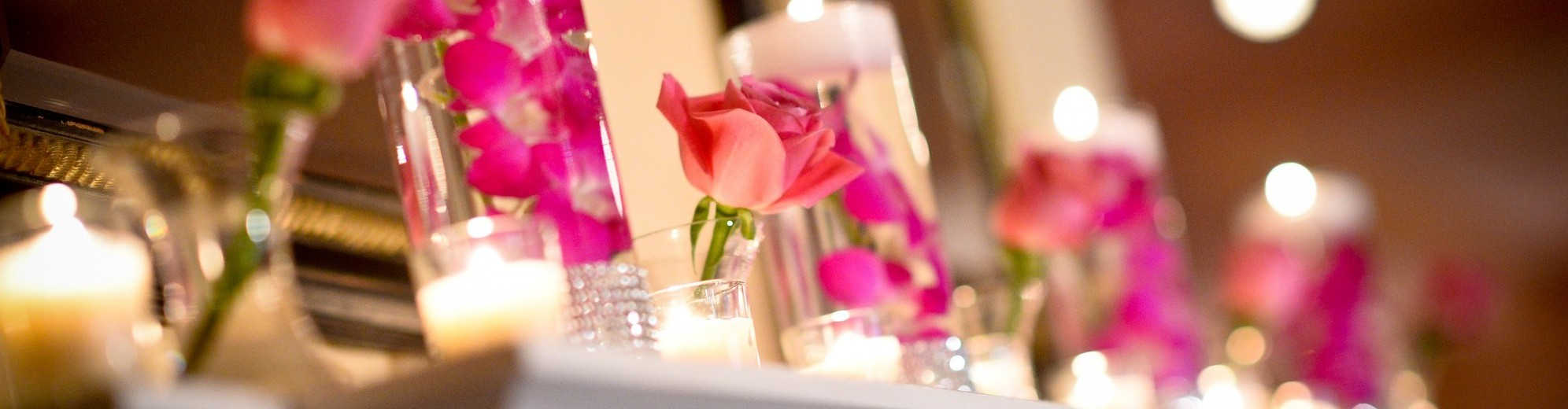 Pink rose center piece